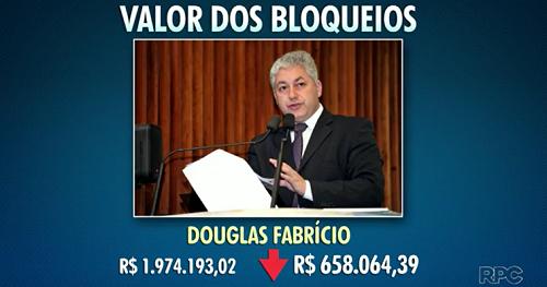 TJ diminui bloqueio de bens de Douglas Fabrício.